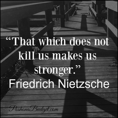 """""""That which does not kill us makes us stronger."""" Friedrich Nietzsche"""