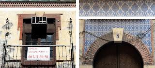 Detalles ornamentales en la fachada del Edificio Histórico de calle Casapalma 7, Centro Histórico de Málaga