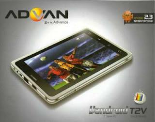 Advan vandroid T2V, bisa Telp, SMS, Nonton TV, Murah - Surabaya