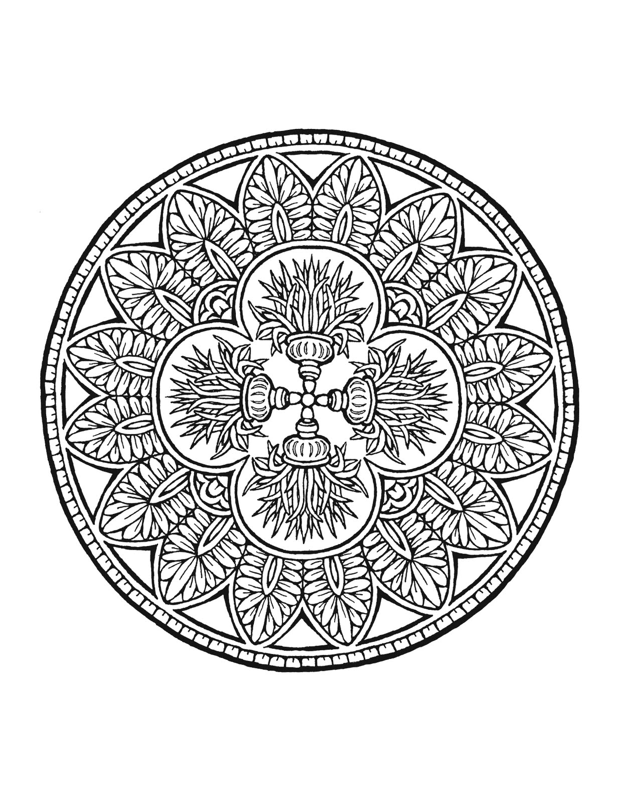 Free Buddhist Coloring Pages Buddhist Mandala Coloring Pages
