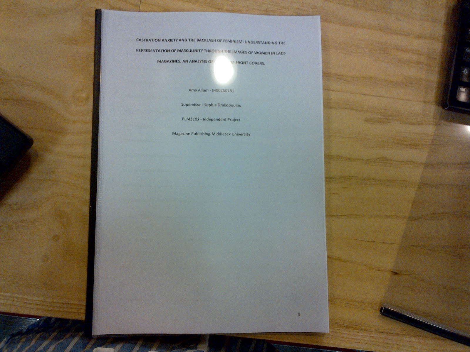 Dissertation Front Page