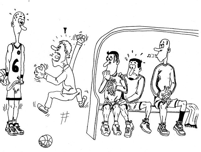 γελειογραφία με σκίτσο προπονητή ποδοσφαίρου ακαδημιών
