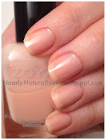 nail polish swatch, Zoya Joan, nude, sheer