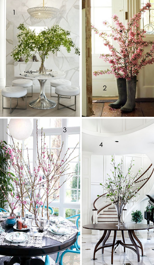 decorating with floral branches