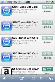 iTunes Gift Cards and more