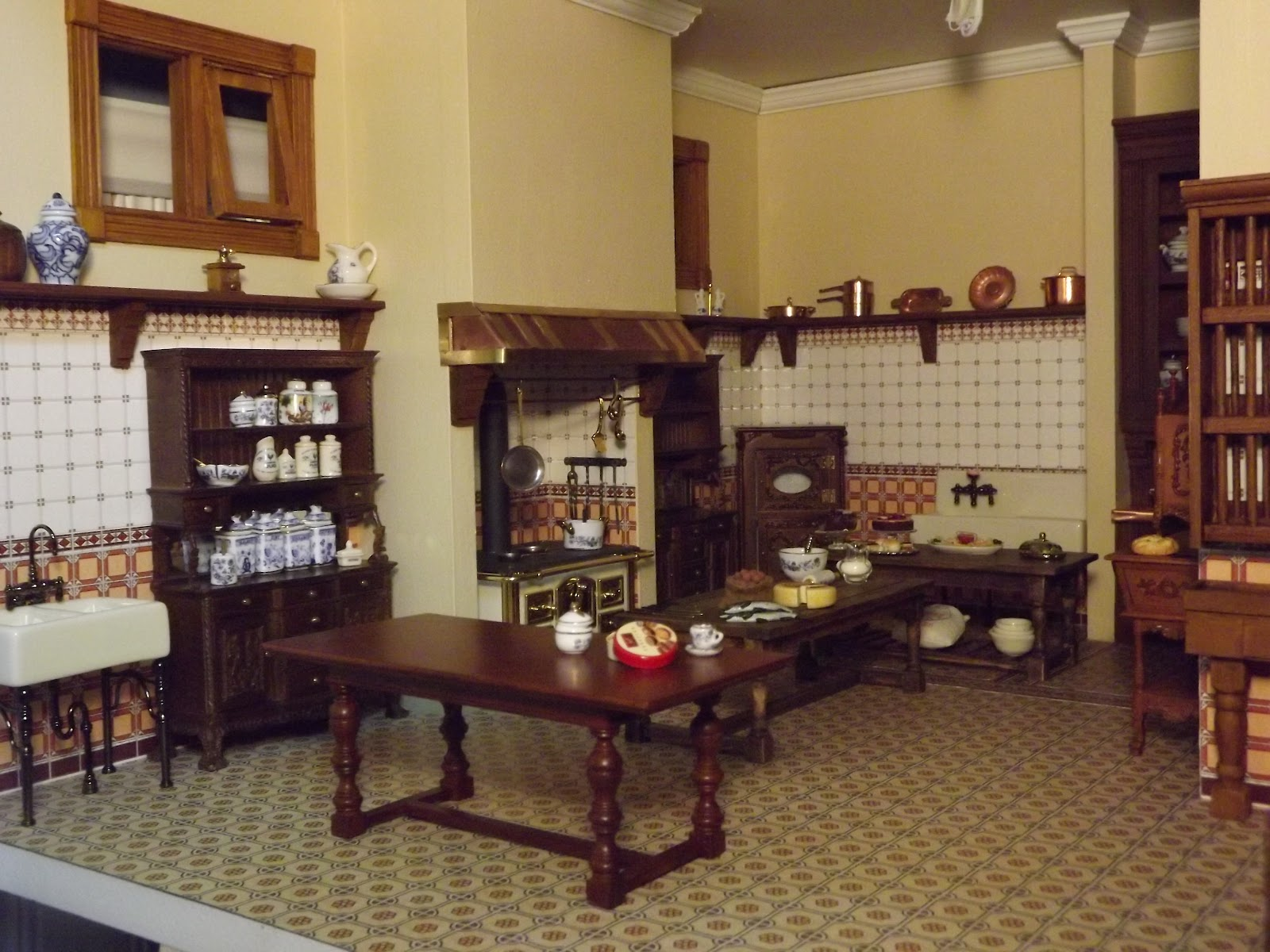English Manor Dollhouse Kitchen