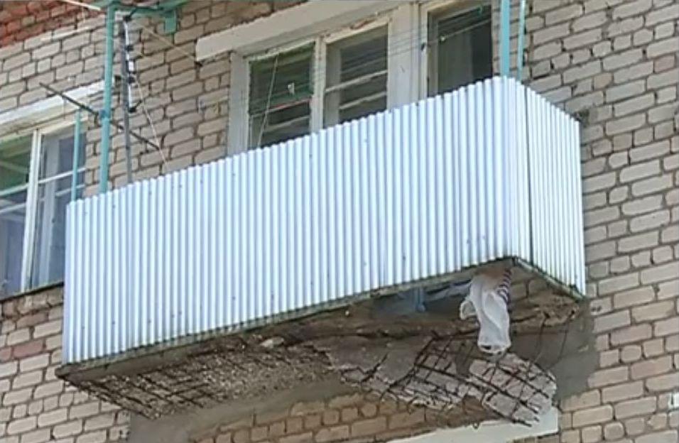 Вкамышине руководитель укидет под суд заобрушение балкона.
