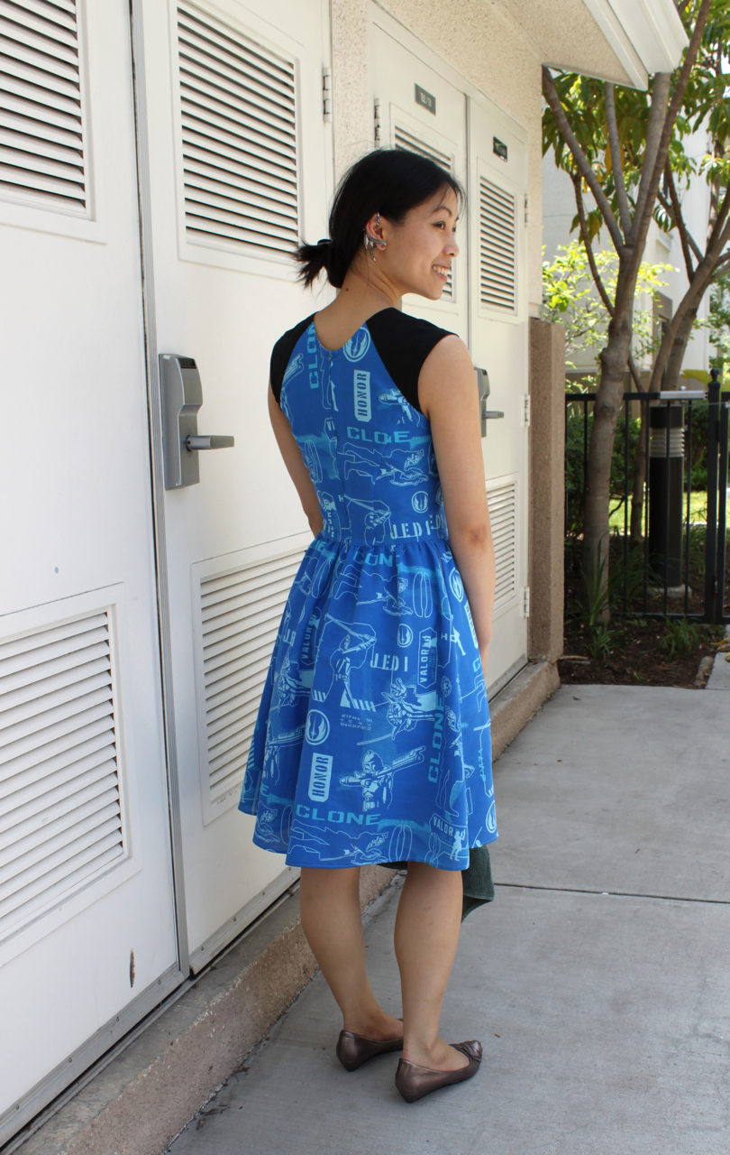Clone Wars dress + dragon wrap ear wrap...doesn't get geekier than that.