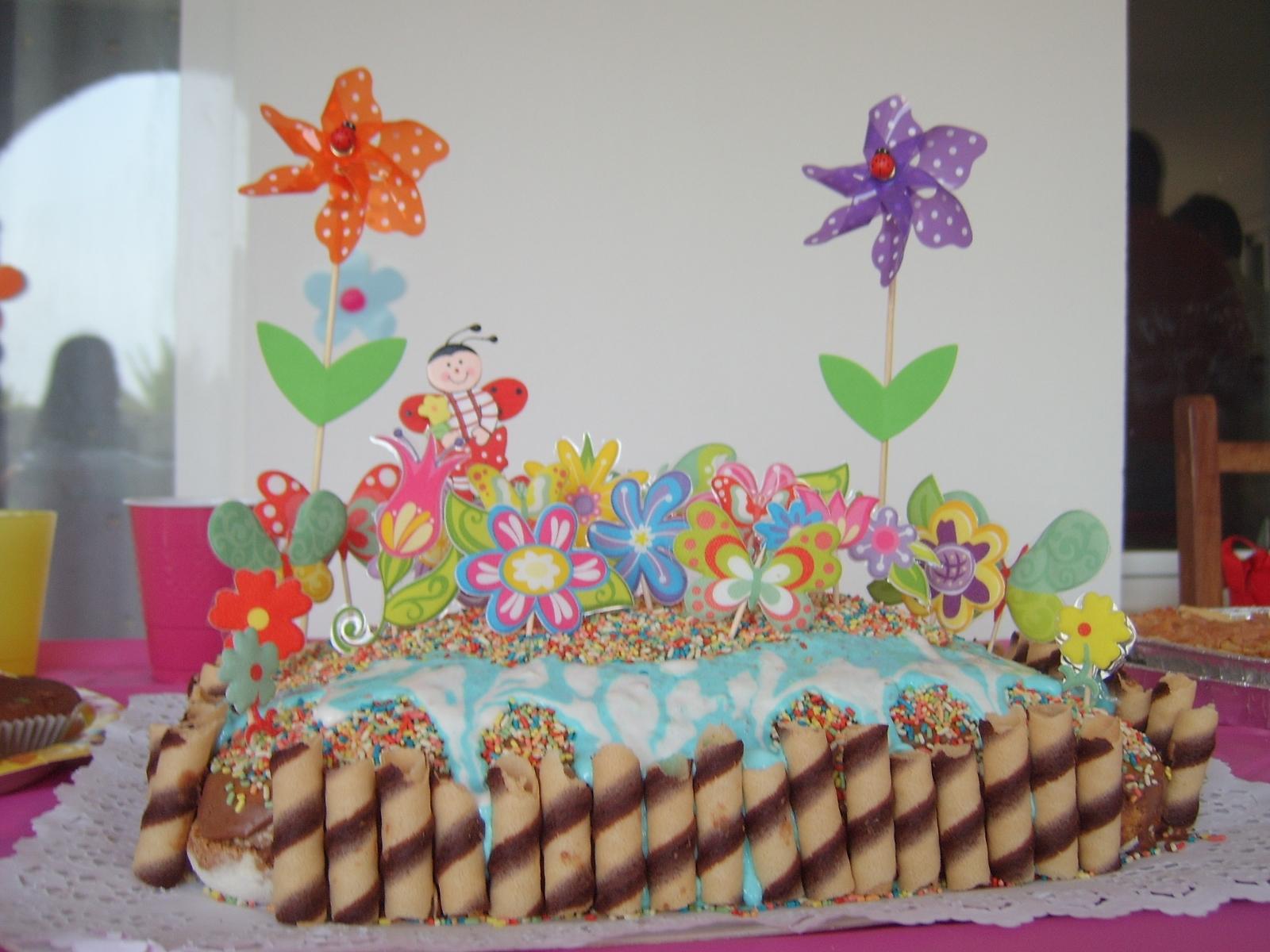 Expres ndonos con los ni os tarta cumplea os infantil ni as - Bizcocho de cumpleanos para ninos ...