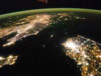Perbedaan Korea Selatan dan Utara Kala Malam Hari