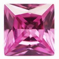 pink princess cut cz loose