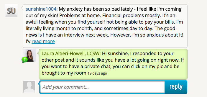 Free Anxiety Chat Room