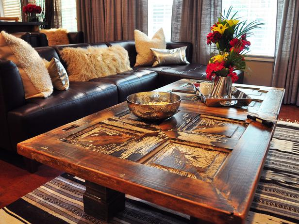 Front Door ~ An Old Door Finds New Life As A Coffee Table. The Rustic  Finish Is Perfect For A Family Room    You Can Put Your Feet Up, Spill Soda  On ...