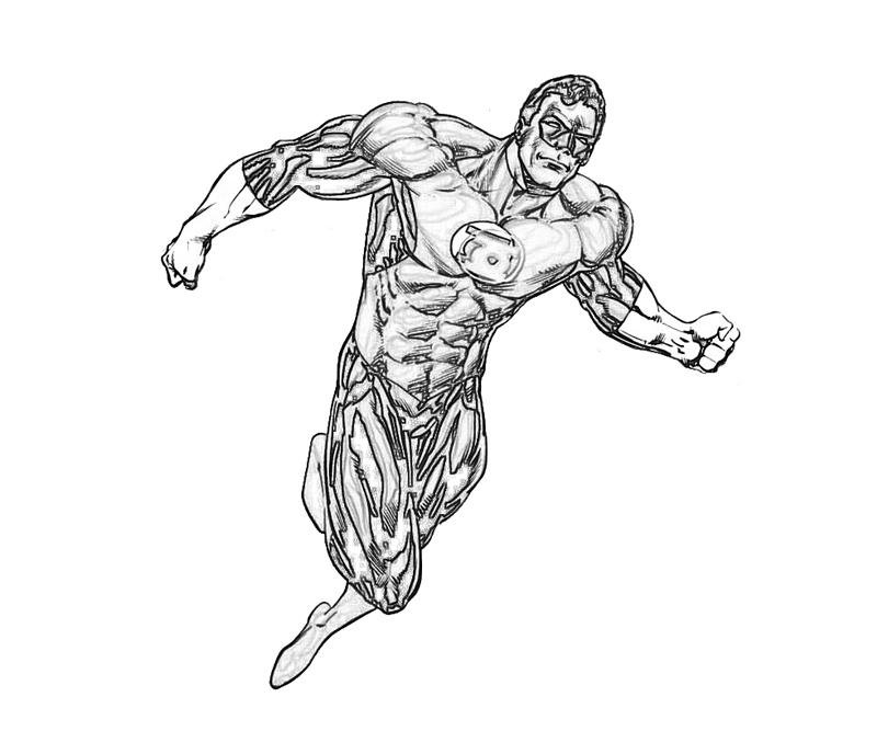 another green lantern coloring pages