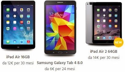 Fastweb Mobile 500, i tablet abbinati all'offerta