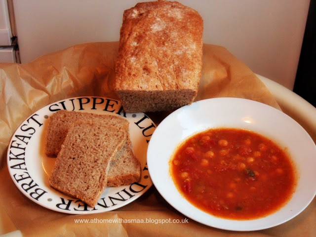 chickpea lentil soup and homemade wholemeal bread recipe | Halal Home Cooking