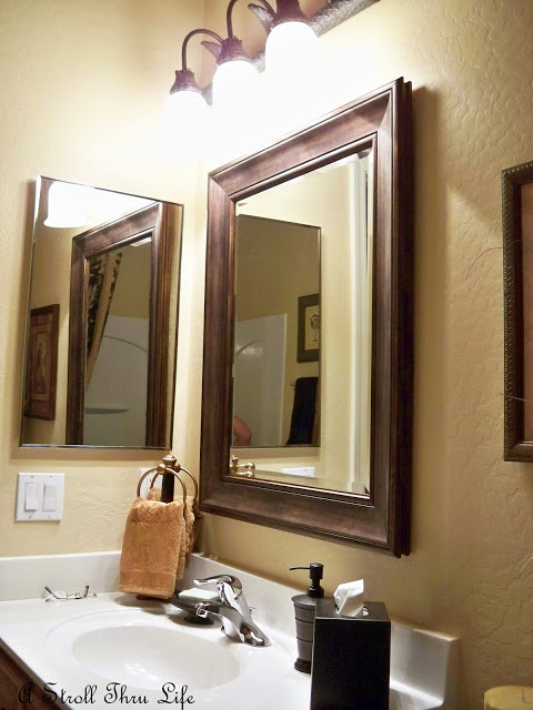 A Stroll Thru Life: How to Patch a Wall & Antique A Mirror