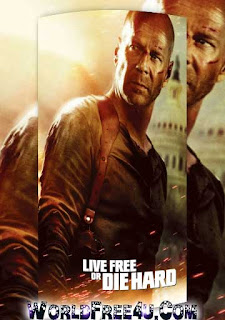 Poster Of Live Free or Die Hard (2007) In Hindi English Dual Audio 300MB Compressed Small Size Pc Movie Free Download Only At worldfree4u.com