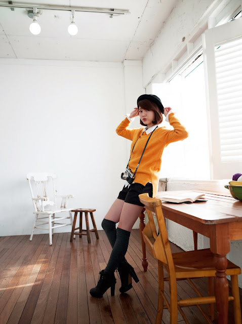 5 Bo Mi in yellow - very cute asian girl-girlcute4u.blogspot.com