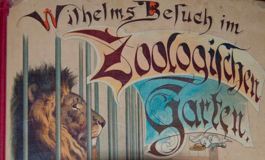Wilhelms Busch Buch in der Weihnachtsausstellung