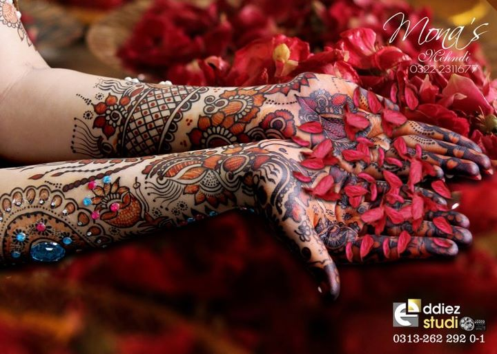 BridalmehndiwwwShe9blogspotcom2528132529 - Embroidered Mehndi