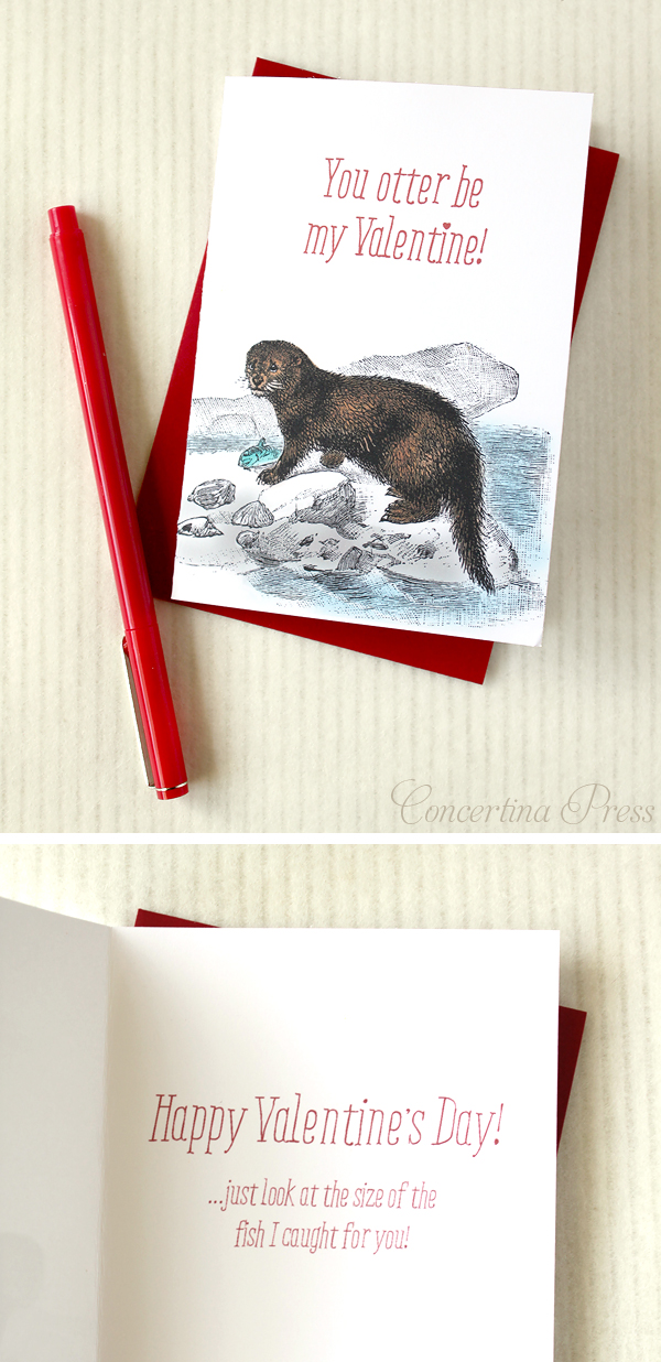 Cape Cod wedding blog photo from Concertina Press - Stationery and Invitations about You Otter Be My Valentine – Funny Valentines Day Card for your Nautical Sweetheart