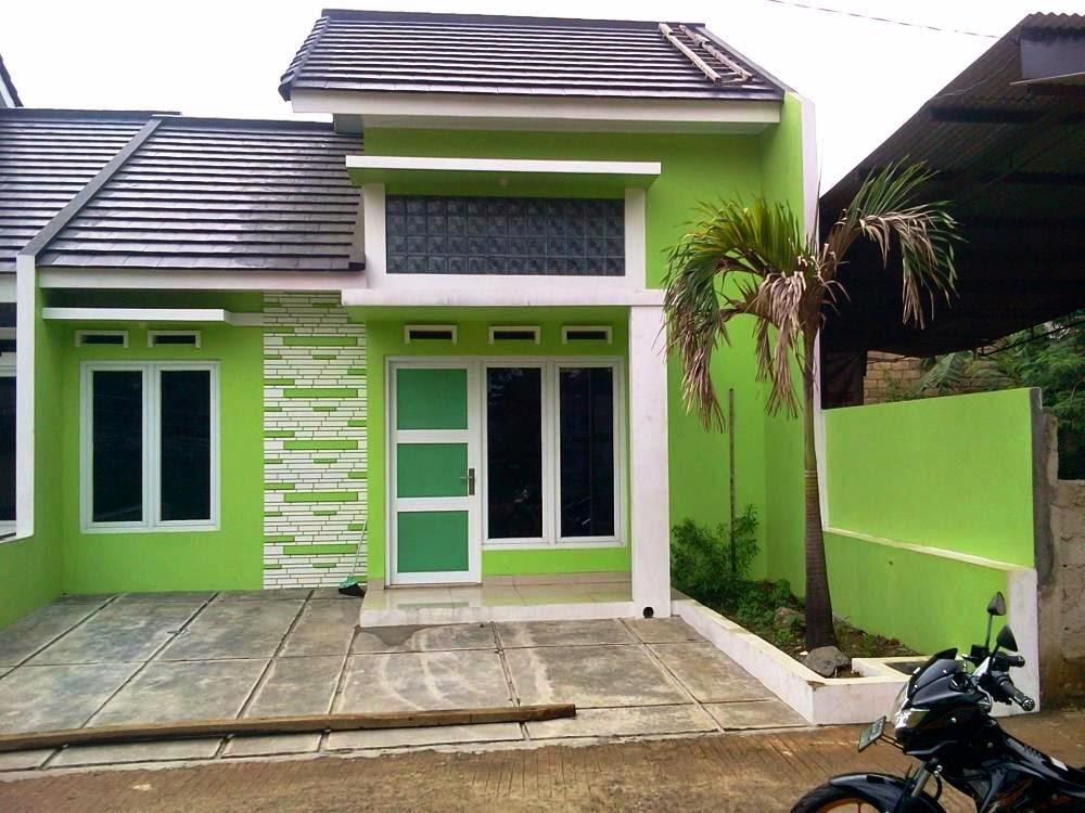 rumah minimalis cat hijau holidays oo