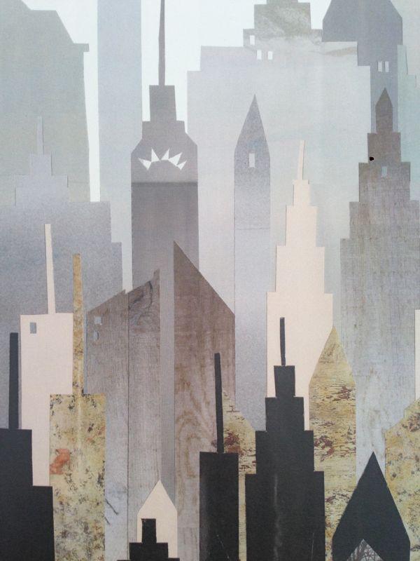print af håndlavet collage