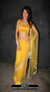 Udita Goswami In Transparent saree