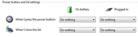 klik tombol start search power buttons pilih change what the power