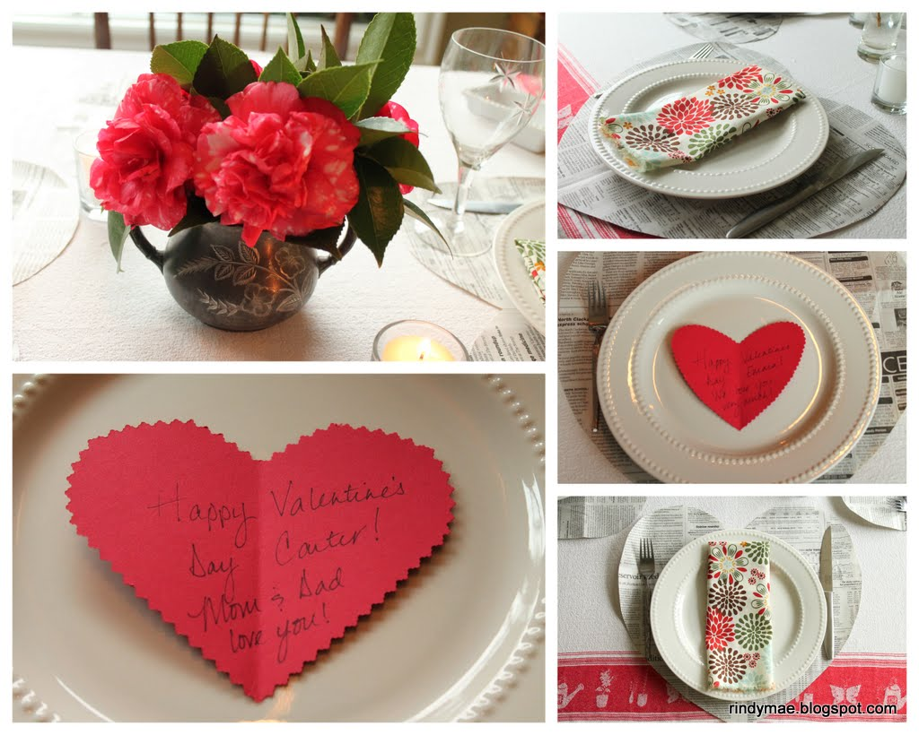 Rindy mae valentine 39 s day dinner - Valentine s day table setting ...