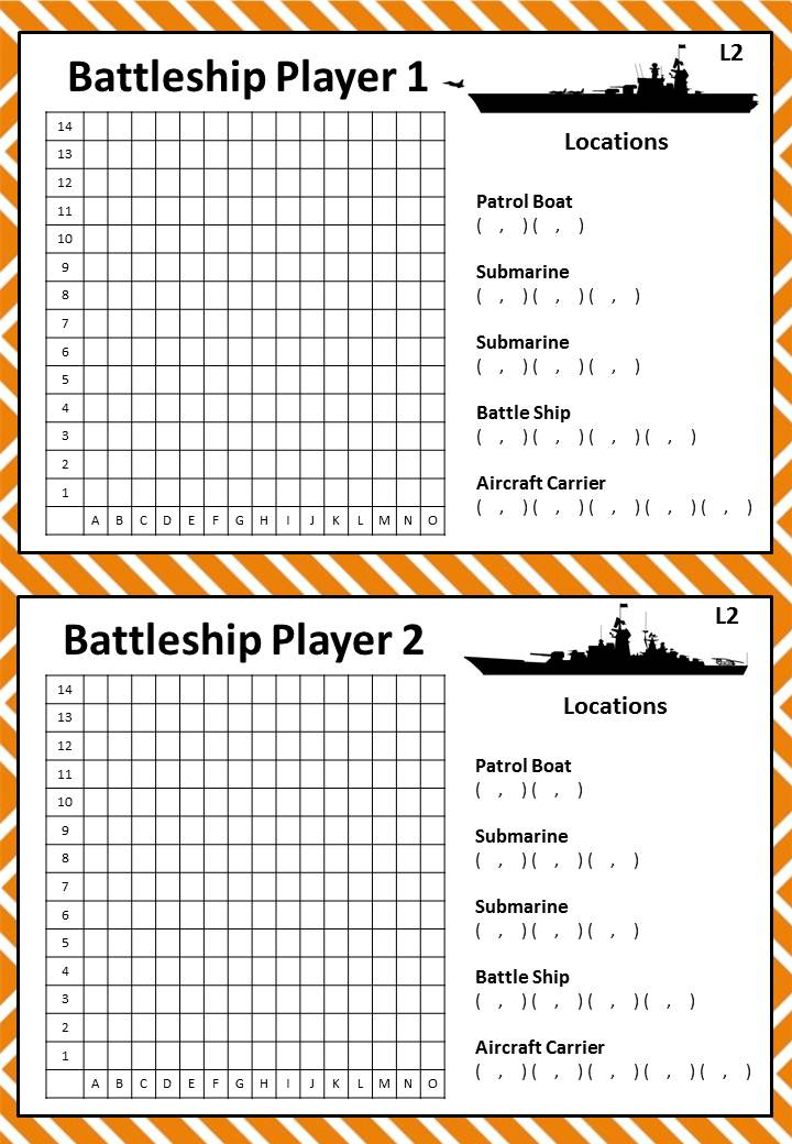 This is an image of Obsessed Battleship Game Printable