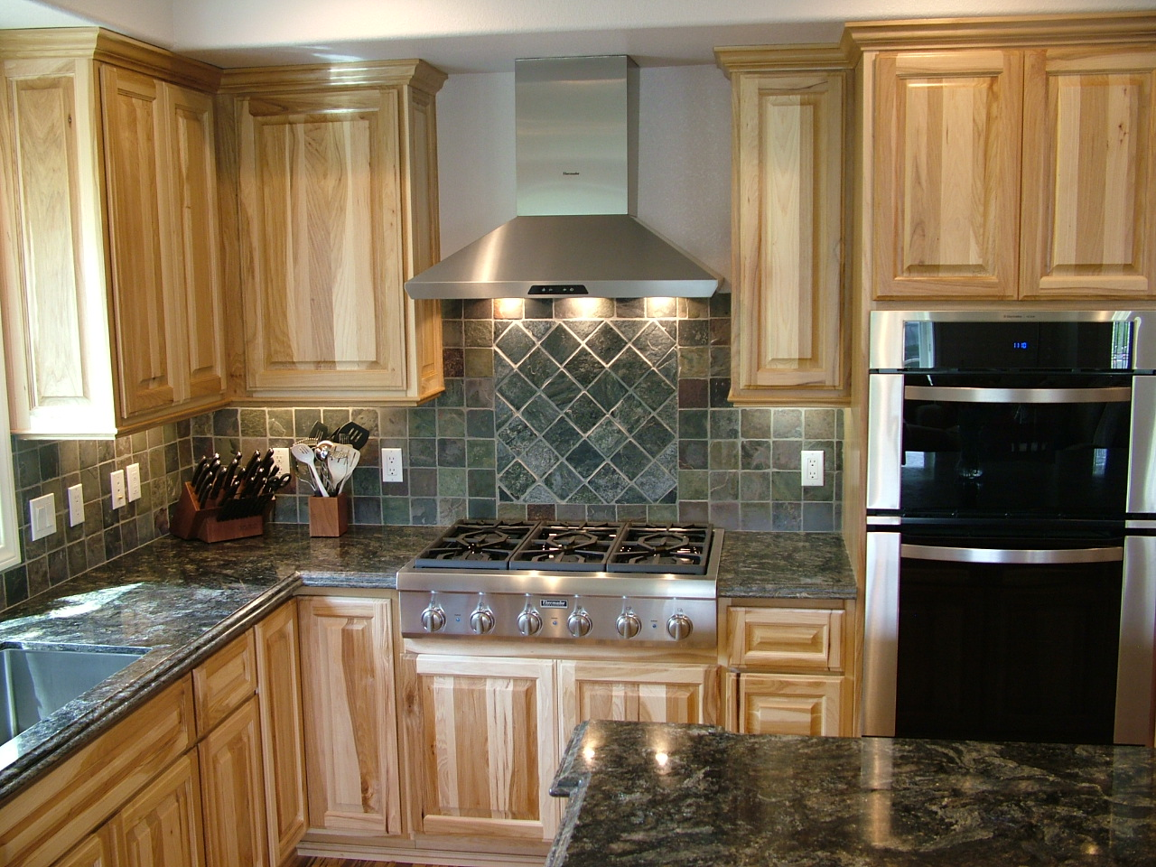 Light Wood Cabinets Kitchen Kitchen Colors Hickory Cabinets Quicuacom