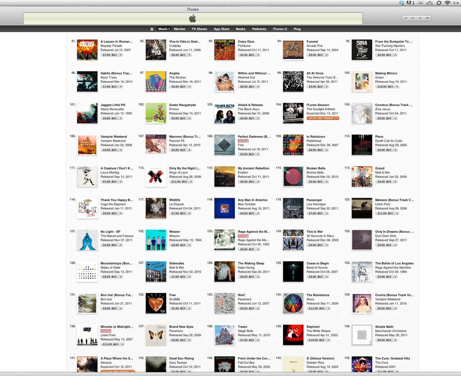 Itunes browse the top album downloads apple