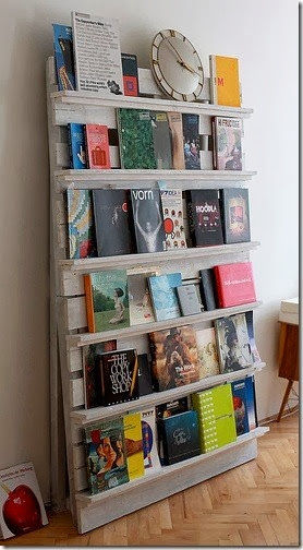 Pallet Used as Bookshelf