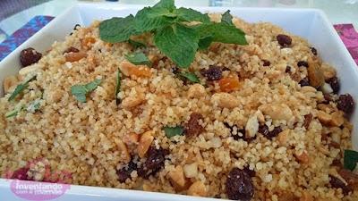 Couscous Marroquino Integral com Castanhas e Frutas Secas