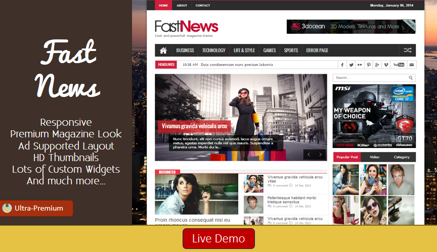 FastNews Blogger Template