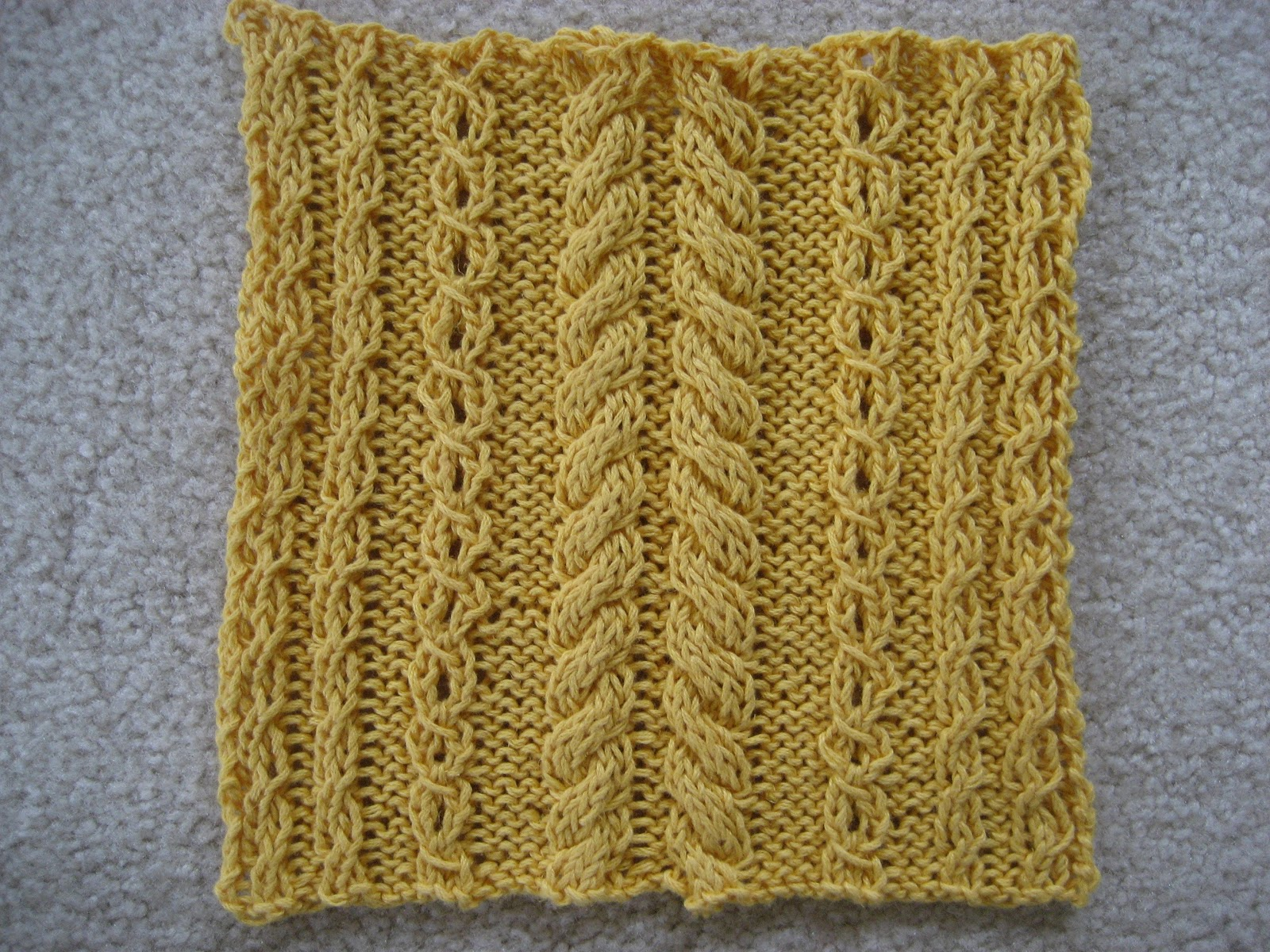Cable Knit Dishcloth Pattern : Red Hat Knitter