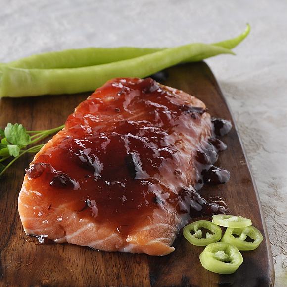 Hot baked salmon