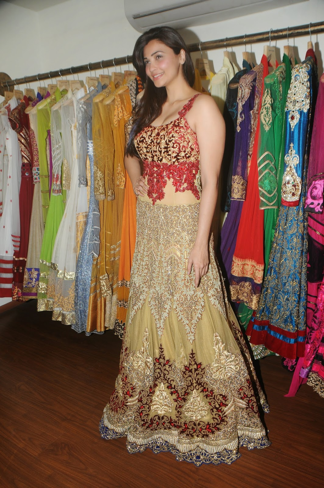 Daisy Shah During Fittings With Designer Rohit Verma