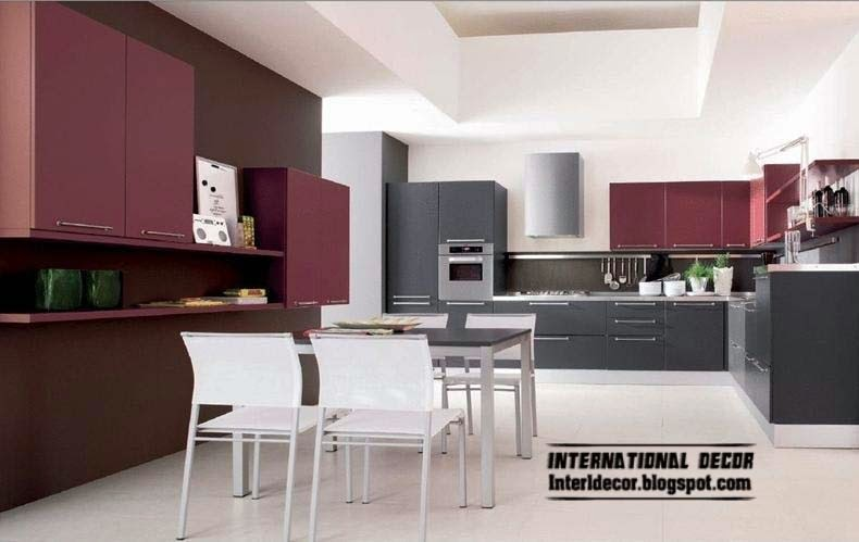 Modern kitchen colors 2014 Kitchen Ikea Black And Purple Kitchen Interior Design 2014 Home Decoration Ideas Purple Kitchen Interior Design And Contemporary Kitchen Design 2014