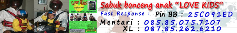 Sabuk bonceng Motor Love Kids