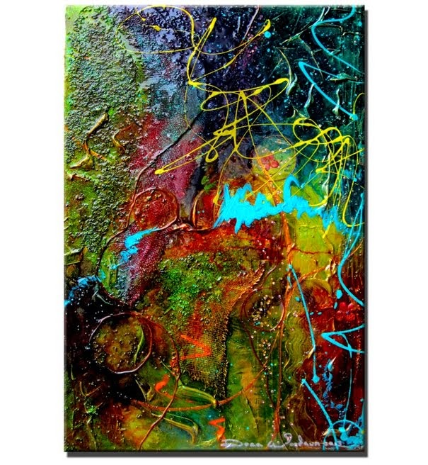 "Original Abstract Painting ""Life in Color"" by Artist Dora Woodrum"
