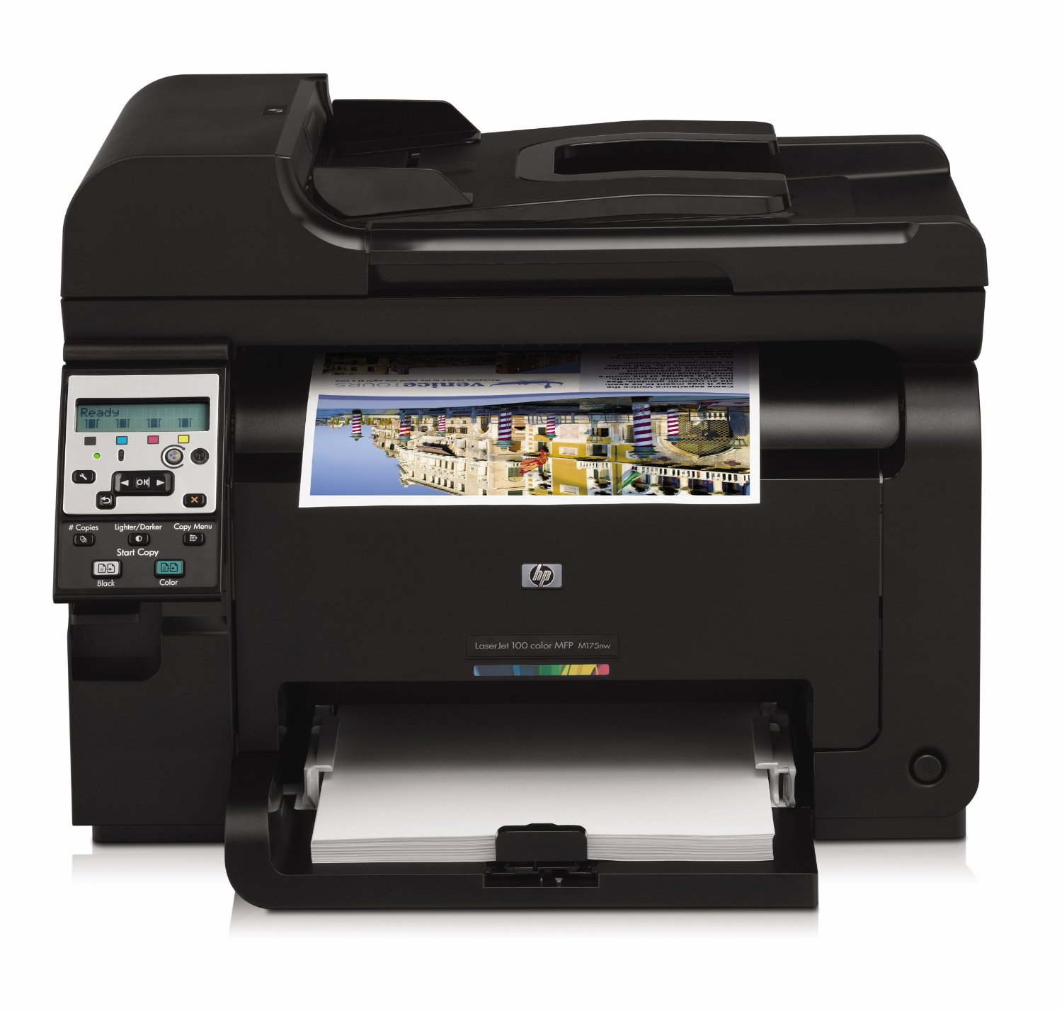Packard laserjet ce866a wireless color printer with scanner and copier