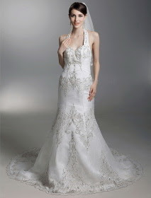 Romantic Beaded Embroidery Wedding Dress