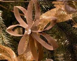 Elementos de reciclaje para elaborar adornos navideños