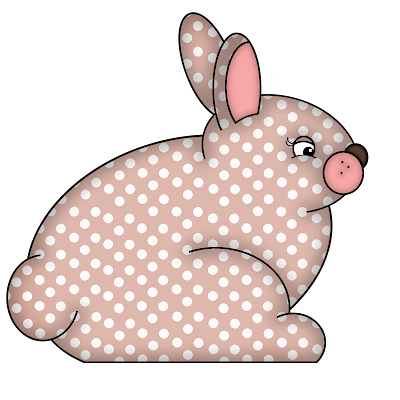 Free Pink Polka Dot Digital Scrapbook Bunny Element 47