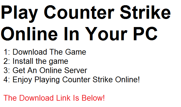 counter strike game play online