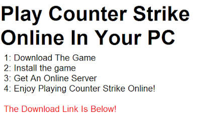 play free online counter strike