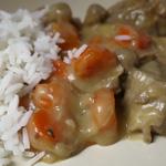 Blanquette de veau aux carottes et aux champignons